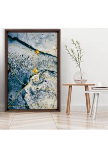 Quadro Love Decor Com Moldura Chanfrada Elementos Dourados Madeira Escura - Mã©Dio - Dourado - Dafiti