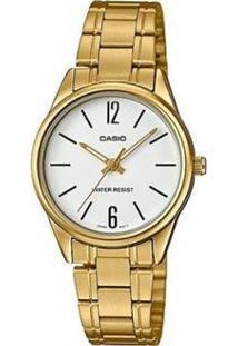 Relógio Feminino Casio Analógico Ltpv005G7Budfbr - Unissex-Dourado