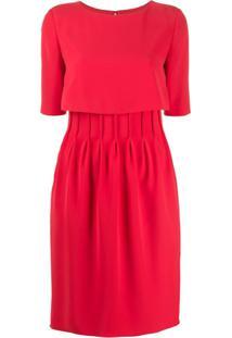 Emporio Armani Vestido Com Pregas - Vermelho