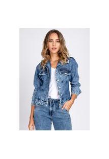 Jaqueta Jeans Bloom Destroyed