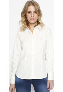 Camisa Slim Fit Com Recortes - Branca - Vip Reservavip Reserva