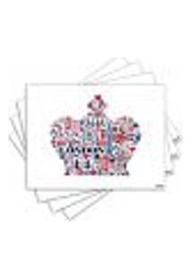 Jogo Americano - Coroa Com 4 Peças - 554Jo