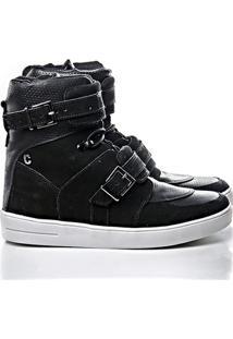 Netshoes. Tênis Sneaker Rock Fit Cano Alto Couro - Feminino 138309362da79