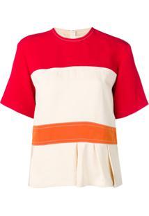 Marni Blusa Color Block Com Peplum - Branco