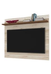 Painel Para Tv Até 55 Polegadas 136Cm Sala De Estar City New Vanilla/Canela - Frade Movelaria