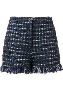 Boutique Moschino Tweed Shorts - Azul
