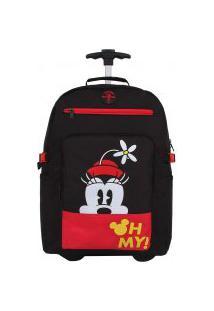 Mochila Carrinho E Costas Disney Minnie Oh My!