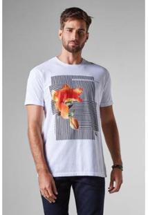 Camiseta Reserva Pf Est Flor Listras Masculina - Masculino