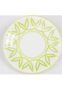 Prato Para Sobremesa Porcelana Schmidt - Dec. Helena Verde