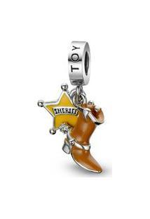 Pingente Life Toy Story Bota E Distintivo Do Woody