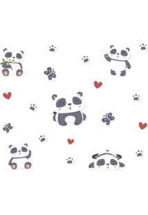 Adesivo De Parede Pandas Infantil - Preto - Dafiti