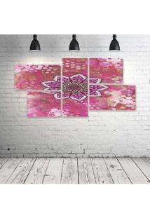 Quadro Decorativo - Mandala341 - Composto De 5 Quadros - Multicolorido - Dafiti