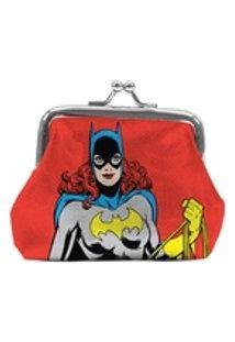 Porta Moedas Pvc Dc Bat Girl Vermelho