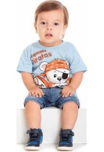 Camisa Bebê Tileesul Masculina - Masculino-Azul
