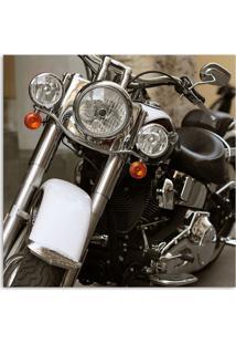 Quadro Moto Frontal Uniart Preto 30X30Cm