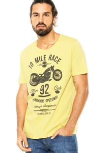Camiseta Colcci Moto Amarela