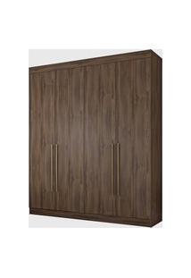 Guarda Roupa Itaguara Ii 4 Portas 2 Gavetas Café Wood Wow Moveis