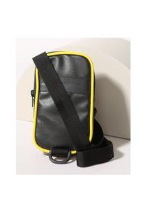 Bolsa 2 Em 1 Shoulder Bag E Pochete Unissex Preta