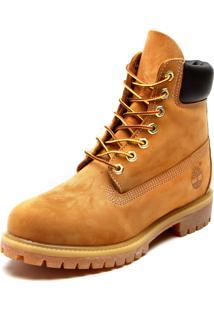 Bota Couro Timberland Yellow Boot 6In Premium Boot Wp Caramelo