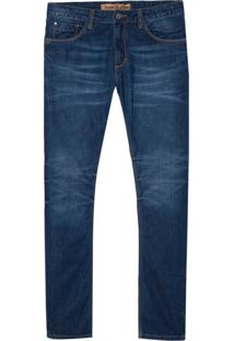 Calça John John Slim Maldivas 3D Jeans Azul Masculina (Jeans Medio, 38)