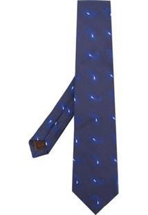 Church'S Gravata De Seda Estampada - Azul