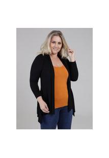 Blusa Sobreposição Autentique Plus Size Feminina Preto/Amarelo