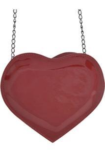 Bolsa Clara Edery Coração - Feminino-Vermelho