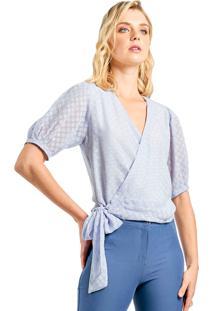 Blusa Mx Fashion Amarração Ninara Lilás