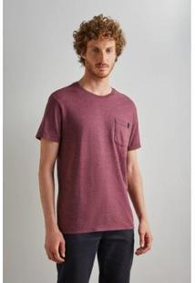 Camiseta Enxuto Bolso Reserva Masculina - Masculino-Vinho