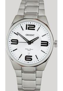 Relógio Analógico Orient Masculino - Mbss1326 S2Sx Prateado - Único