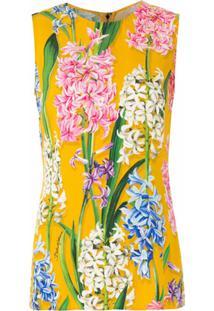 Dolce & Gabbana Blusa Estampada Sem Mangas - Amarelo