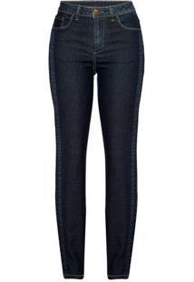 7fd5c81a1b ... Calça Jeans Feminina Skinny Com Detalhe Lateral