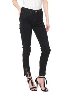 Calça Jeans Carmim Skinny Manhattan Preta