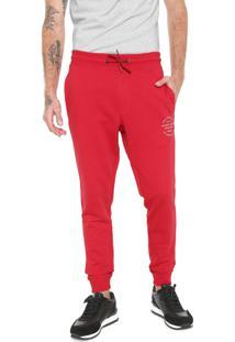 Calça Moletom Jack & Jones Jogger Logo Vermelha