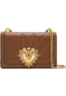 Dolce & Gabbana Bolsa Tiracolo Devotion Média - Marrom