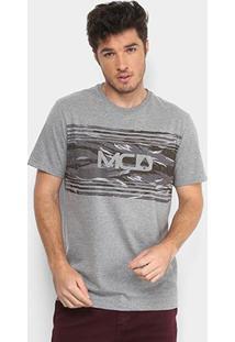Camiseta Mcd Camouflage Masculina - Masculino-Mescla