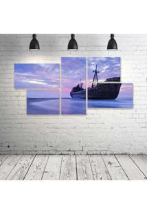 Quadro Decorativo - Blue-Sea - Composto De 5 Quadros
