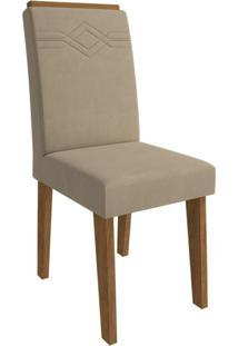 Cadeira Taís Com Moldura Caramelo Savana