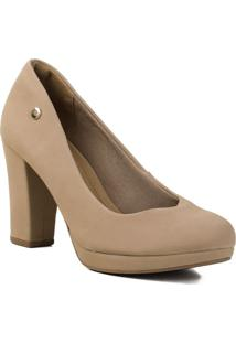 Sapato Feminino Scarpin Via Marte 20-1654 Via Marte Bege