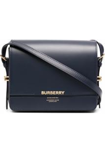 Burberry Sm Grace Shoulder Bag - Azul