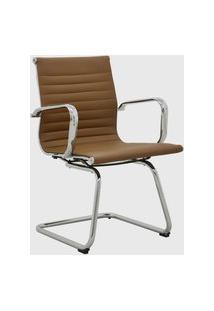 Cadeira Office Sevilha Fixa Baixa Marrom Escuro Rivatti