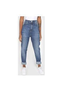Calça Jeans Tommy Jeans Mom Estonada Azul