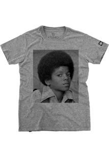 Camiseta Stoned Michael Jackson Cinza