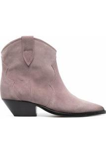 Isabel Marant Ankle Boot Com Salto 40Mm - Rosa