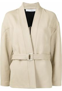 Iro Belted Fitted Jacket - Marrom