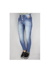 Calça Jeans Feminina Max Denim Skinny Azul
