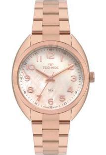 Relógio Technos Boutique 2036Mlc/4T Feminino - Feminino-Rosa
