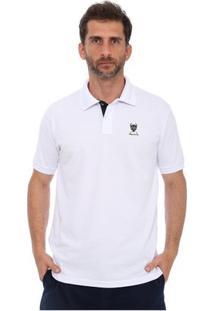 Camisa Polo New York Polo Club Slim - Masculino-Branco