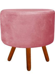 Puff Banqueta Decorativa Dora Redondo Suede Rose - D'Rossi - Rosa - Dafiti