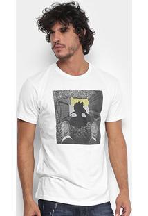 Camiseta Reserva Gola Careca Pica-Pau Poça Masculina - Masculino-Off White